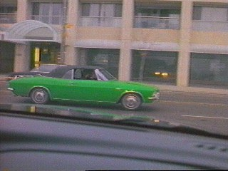 The Kermitmobile, a lime-green Corvair convertible...Oh Yeah!